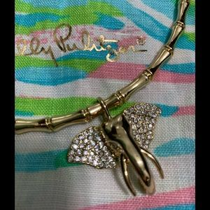 Lilly Pulitzer Glam Elephant Collar necklace Gold